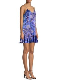 Caroline Constas Tina Paisley Slip Dress