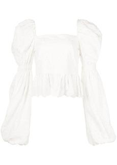 Caroline Constas Wren floral-embroidered blouse