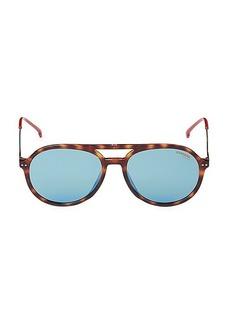 Carrera 53MM Faux Tortoiseshell Aviator Sunglasses