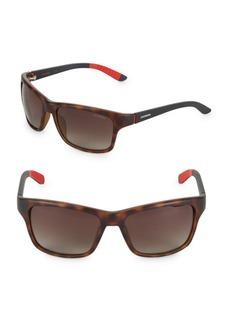 58MM Carrera Rectangular Sunglasses