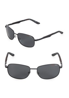 Carrera 58MM Rectangle Sunglasses