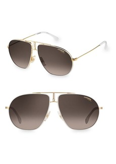 Carrera 60MM Bound Aviator Sunglasses