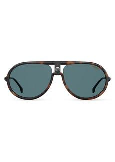Carrera 60MM Polarized Aviator Sunglasses