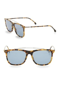 Carrera 55MM Animal Print Square Sunglasses