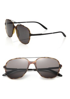 Carrera 55MM Oversized Square Framed Aviator