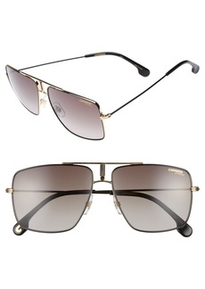 Carrera 60mm Aviator Sunglasses