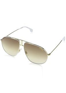 Carrera Bound Aviator Sunglasses WHITE GOLD 60 mm