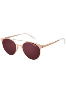 Carrera CA115S Round Sunglasses Copper Gold/Dark Cyclamen SF Gray 50 mm