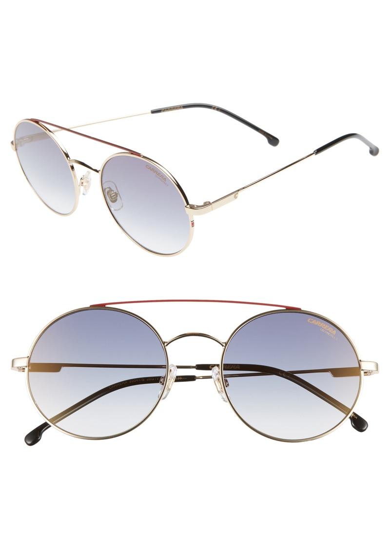 Carrera Eyewear 51mm Round Sunglasses