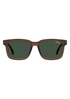 Carrera Eyewear 53mm Chunky Rectangle Sunglasses
