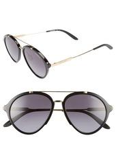 Carrera Eyewear 54mm Gradient Aviator Sunglasses