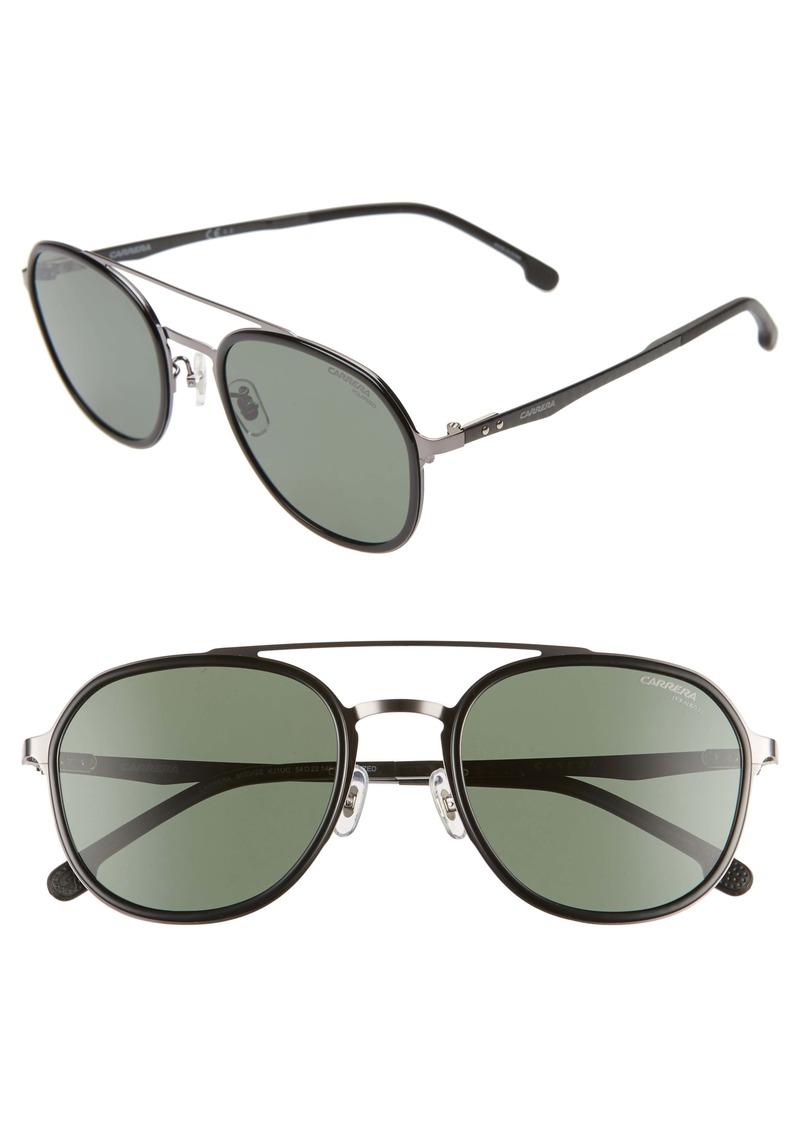 Carrera Eyewear 54mm Polarized Round Sunglasses