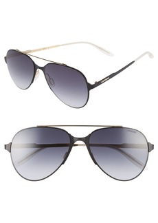 Carrera Eyewear 55mm Aviator Sunglasses