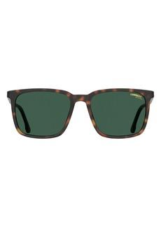 Carrera Eyewear 55mm Polarized Rectangle Sunglasses