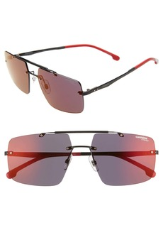 Carrera Eyewear 55mm Polarized Tinted Rimless Navigator Sunglasses