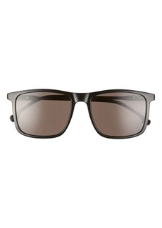 Carrera Eyewear 55mm Rectangular Polarized Sunglasses