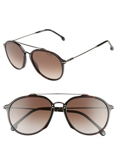 Carrera Eyewear 55mm Round Sunglasses