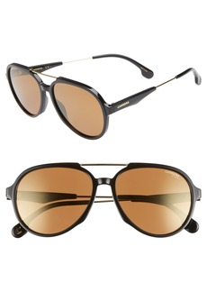 Carrera Eyewear 56mm Aviator Sunglasses