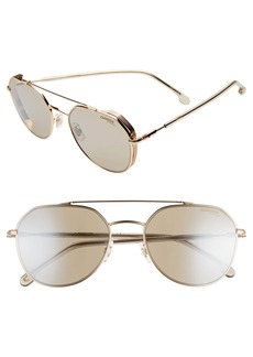 Carrera Eyewear 56mm Polarized Aviator Sunglasses