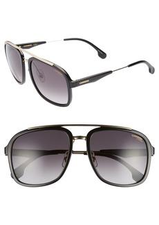 Carrera Eyewear 57mm Navigator Sunglasses
