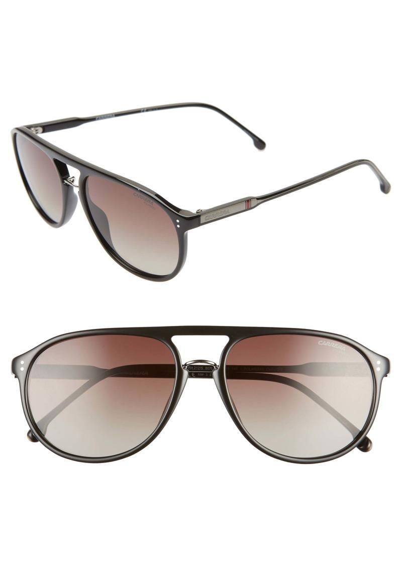 Carrera Eyewear 58mm Polarized Aviator Sunglasses