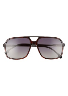 Carrera Eyewear 59mm Gradient Aviator Sunglasses
