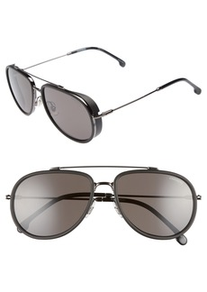 Carrera Eyewear 59mm Polarized Aviator Sunglasses