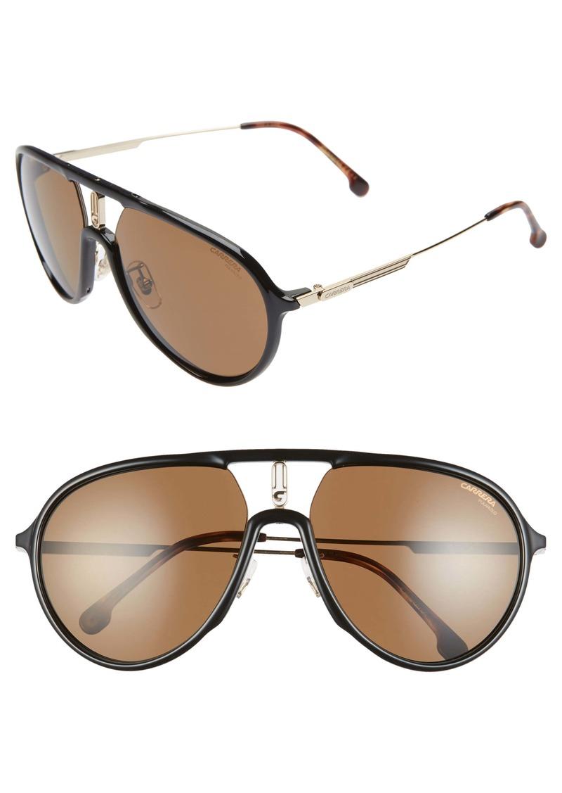 Carrera Eyewear 59mm Polarized Aviator Sunglasses
