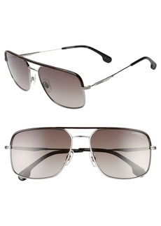 Carrera Eyewear 60mm Gradient Aviator Sunglasses