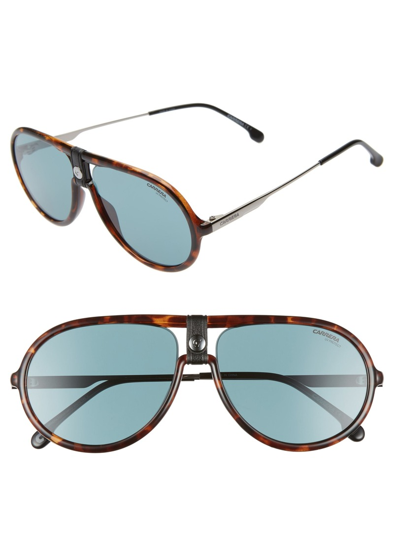 Carrera Eyewear 60mm Polarized Aviator Sunglasses