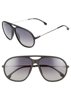 Carrera Eyewear 60mm Polarized Aviator Sunglasses