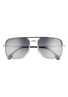 Carrera Eyewear 60mm Polarized Square Aviator Sunglasses