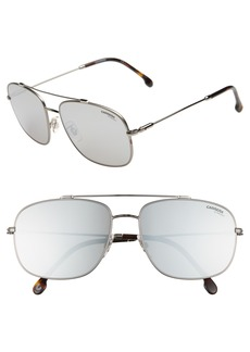 Carrera Eyewear 60mm Special Fit Aviator Sunglasses
