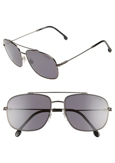 Carrera Eyewear 60mm Special Fit Polarized Navigator Sunglasses