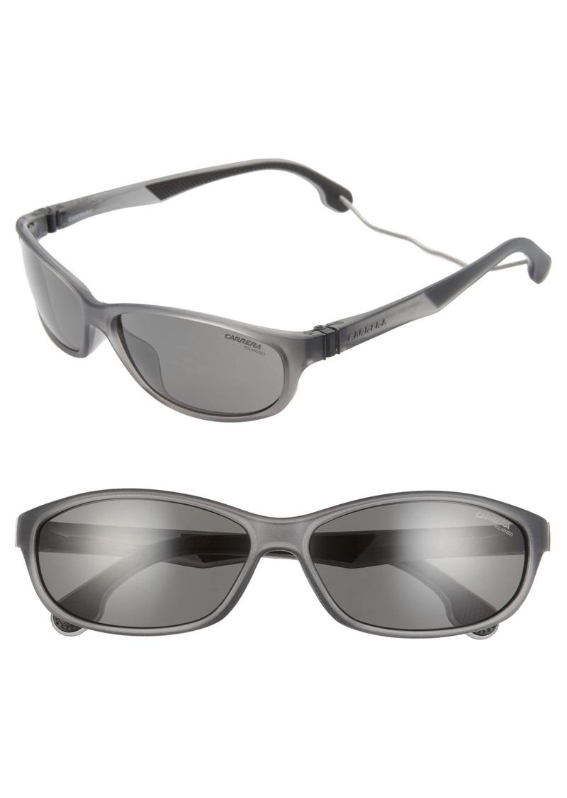 Carrera Eyewear 61mm Polarized Wraparound Sunglasses
