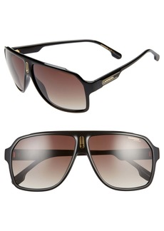 Carrera Eyewear 62mm Oversize Polarized Flat Top Aviator Sunglasses
