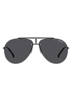 Carrera Eyewear 62mm Rimless Aviator Sunglasses