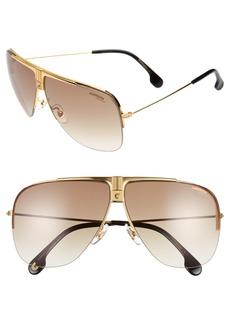 Carrera Eyewear 64mm Metal Aviator Sunglasses