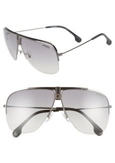 Carrera Eyewear 64mm Metal Aviator Sunglasses