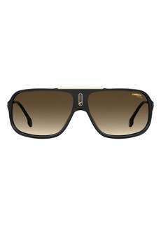 Carrera Eyewear 64mm Polarized Rectangle Sunglasses