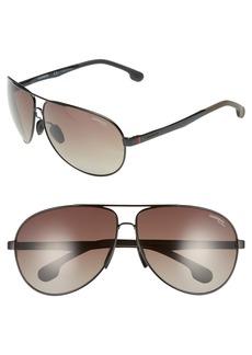 Carrera Eyewear 65mm Polarized Aviator Sunglasses