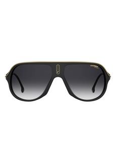 Carrera Eyewear Safari65 62mm Gradient Oversize Aviator Sunglasses