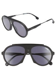Carrera Flag 57mm Mirrored Pilot Sunglasses