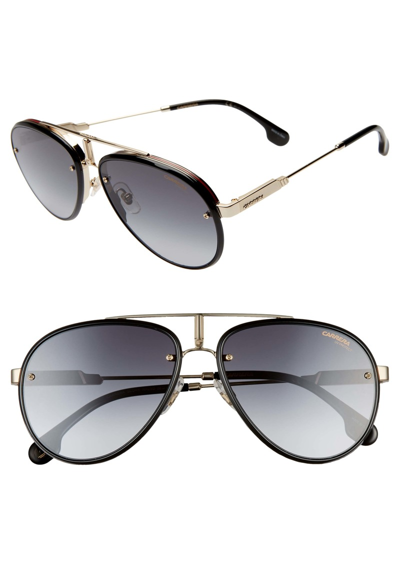 Carrera Glory 58mm Aviator Sunglasses