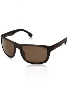 Carrera Men's 8027/s Polarized Rectangular Sunglasses