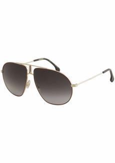 Carrera Men's Bounds Aviator Sunglasses RED GOLD/DARK GRAY GRADIENT 62 mm