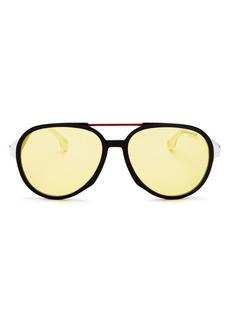 Carrera Men's Brow Bar Aviator Sunglasses, 56mm