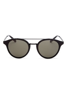 Carrera Men's Brow Bar Round Sunglasses, 49mm
