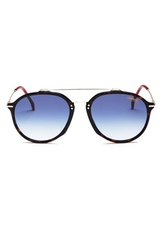 Carrera Men's Brow Bar Round Sunglasses, 52mm