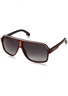 Carrera Men's Ca1001s Aviator Sunglasses RED Black/Dark Gray Gradient 62 mm